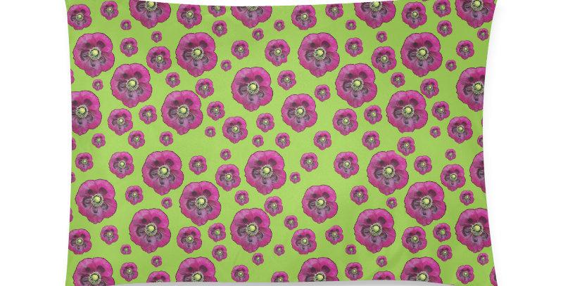 Purple Poppies (small print) - Cushion Cover