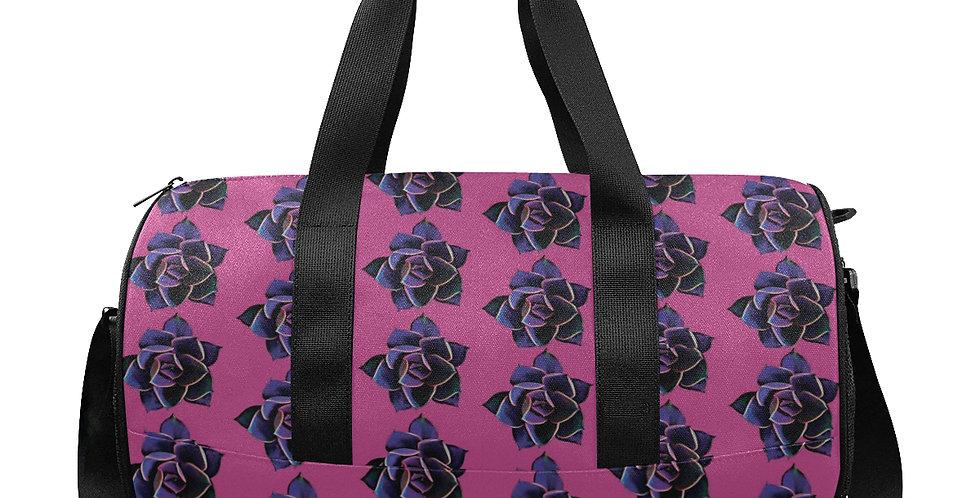 Pink Succulent - Gym / Workout / Camping / Travel Duffel Bag