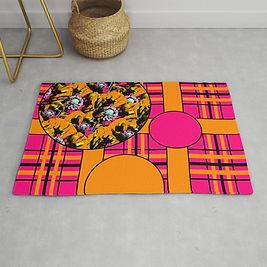 tartan-poppies-orange-pink-pattern441986