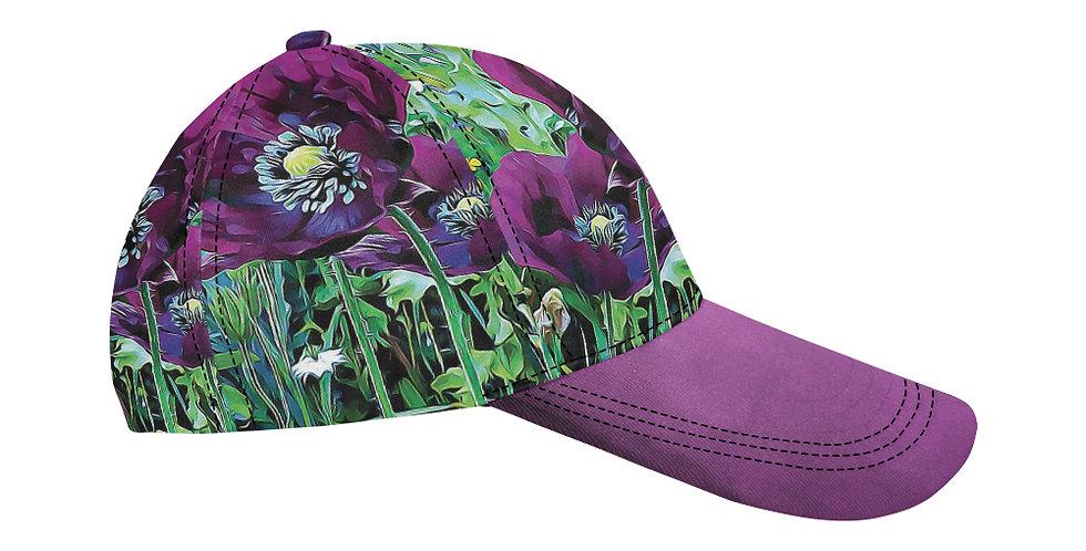 Meadow Poppies Spring - Baseball Cap