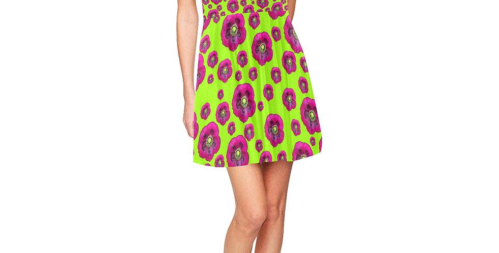 Purple Poppies - Skater Dress