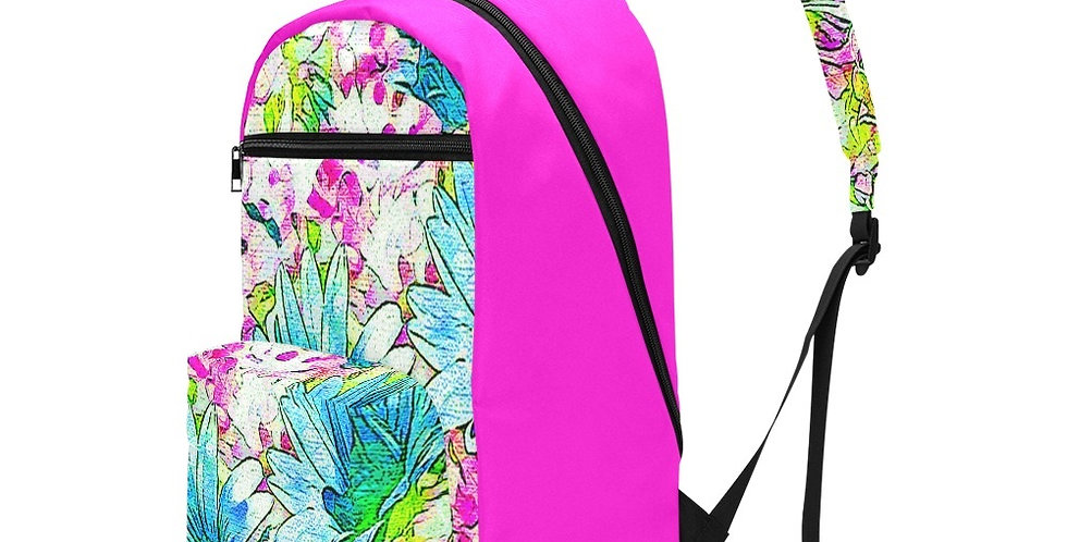 Dancing Daisies Pink - Travel Backpack (Large Capacity)