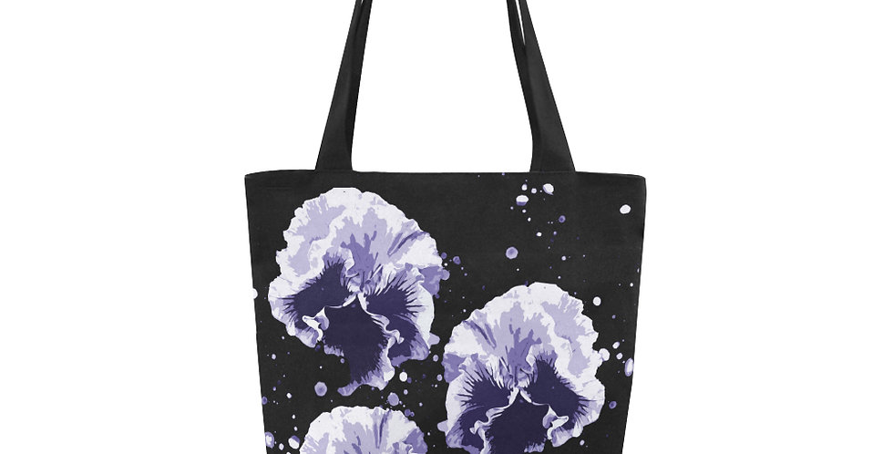 Pansy Moonbeams Blue - Tote Bag