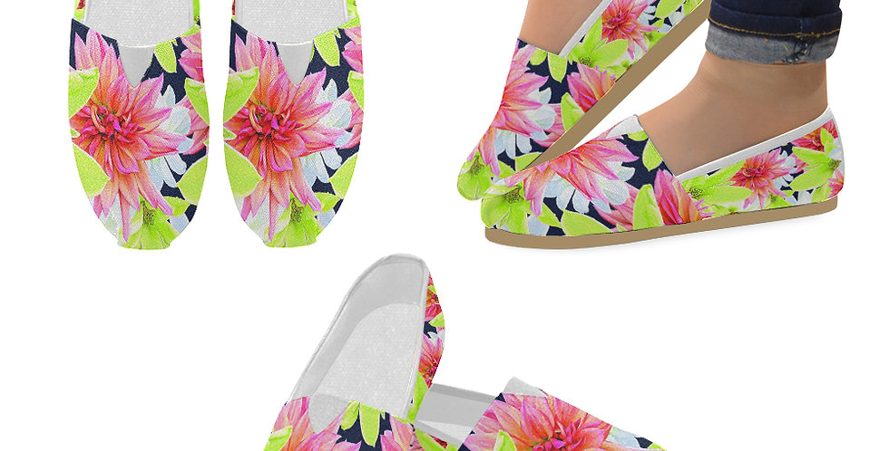 Magnolia Butterflies - Slip On Canvas Shoes
