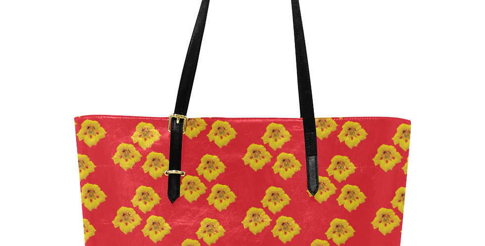 Ladybug Nasturtium - Large Tote Bag