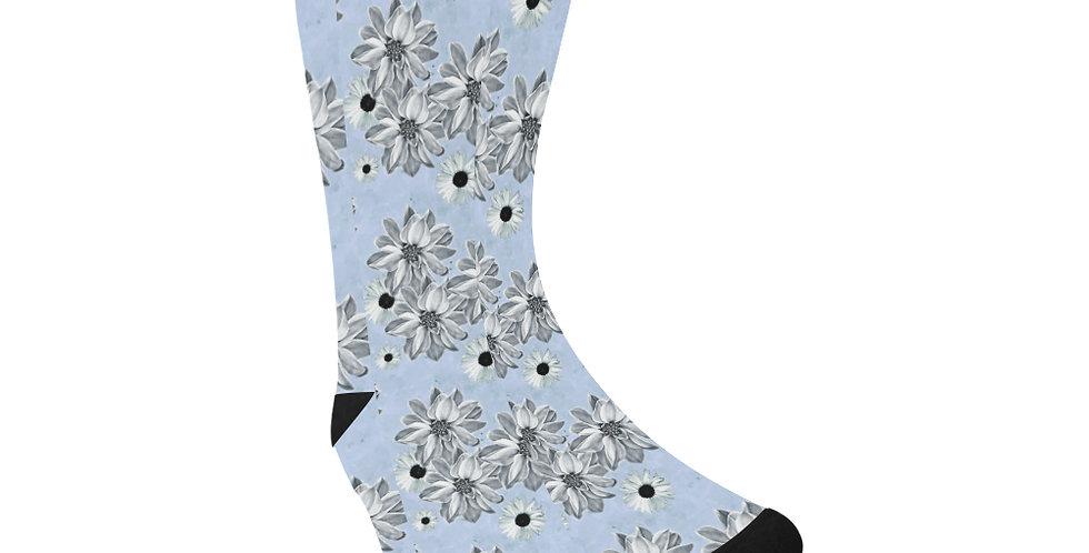 Floral Blue - Unisex Socks (Made in Australia)