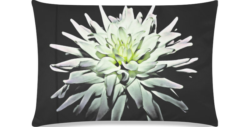 Margar (white dahlia) - Cushion Cover