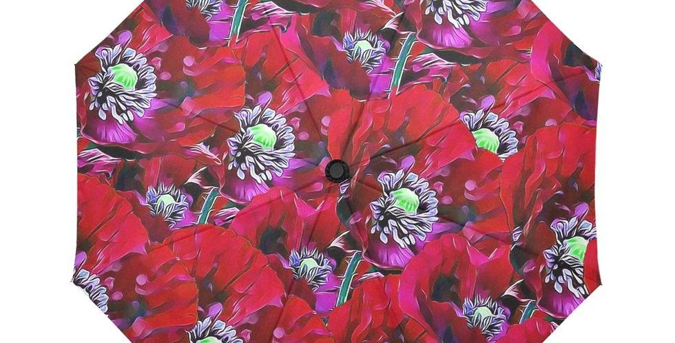 Poppies Red - Botanical Umbrella