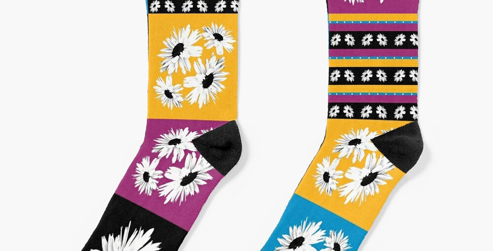 Daisy Allsorts Patchwork - Socks