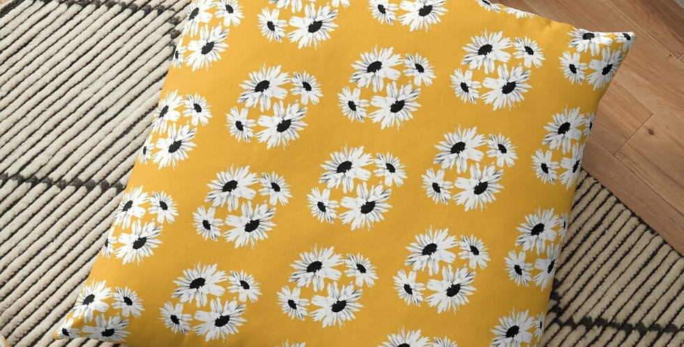Bunch of Daisies Yellow (small print) - Cushion Cover