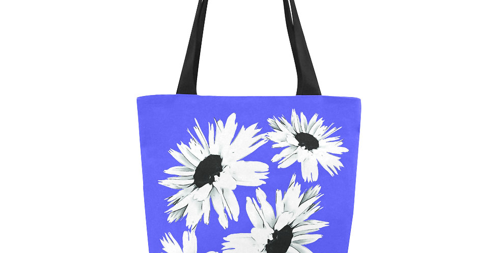 Daisy Love Dark Blue - Tote Bag