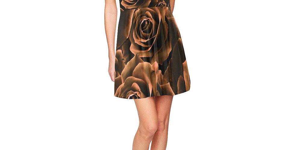 Velvet Roses Chocolate - Skater Dress