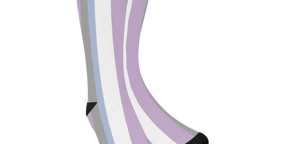 Moody Stripes -  Unisex Socks (Made in Australia)