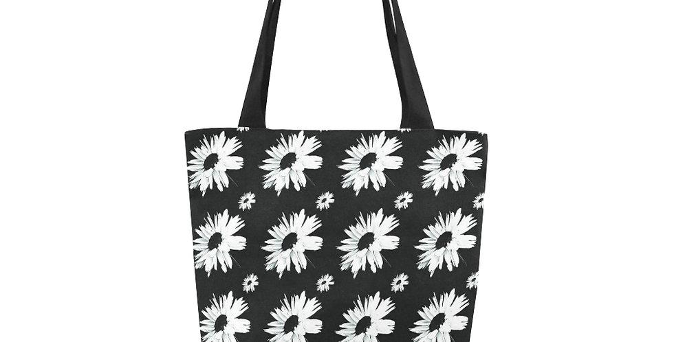 Bunch of Daisies Black (small print) - Tote Bag