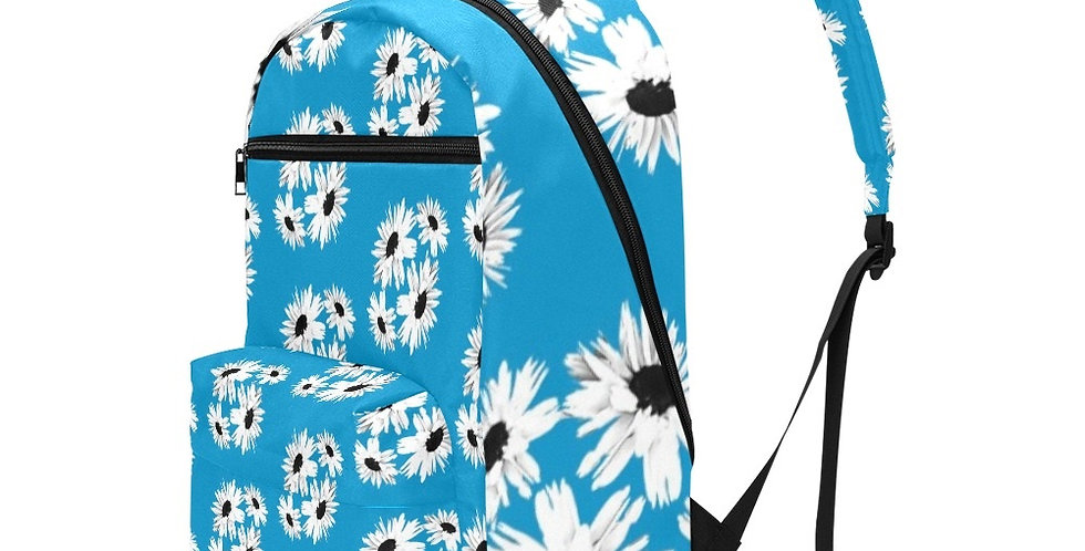 Bunch of Daisies Blue - Travel Backpack (Large Capacity)
