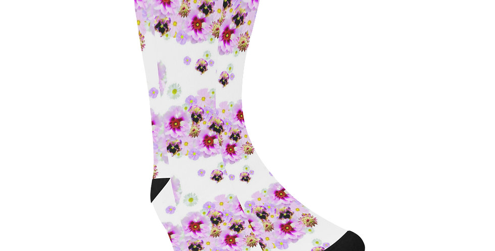 Candy Floss Floral - Unisex Socks (Made in Australia)