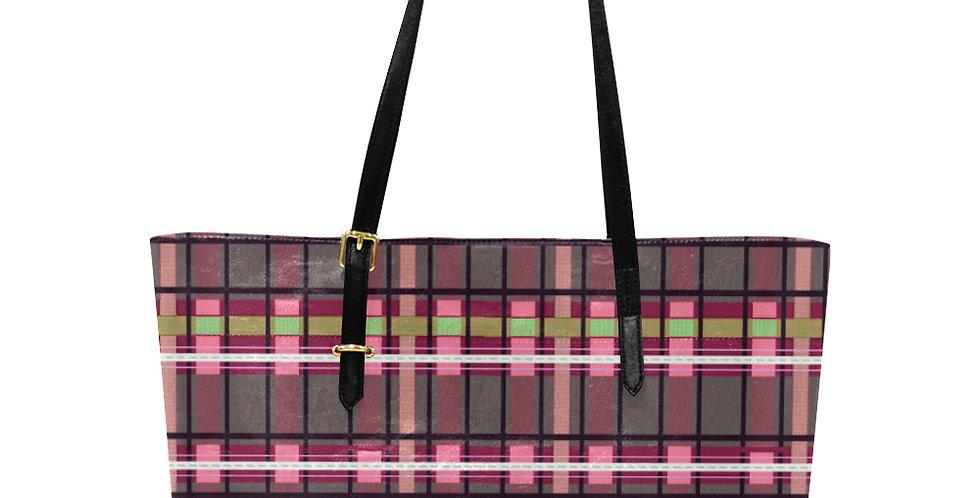 Tartan Terror Red/Pink - Large Tote Bag