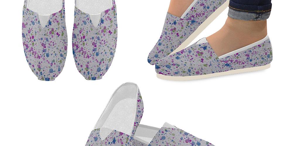 Splash Blue/Purple - Slip On Canvas Shoes