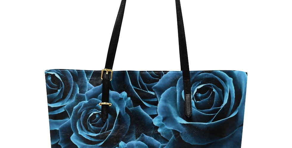 Velvet Rose Blue - Large Tote Bag