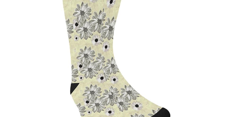 Floral Lemon - Unisex Socks (Made in Australia)