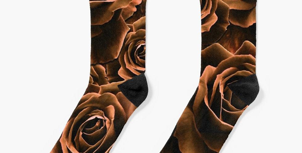 Velvet Roses Chocolate - Socks