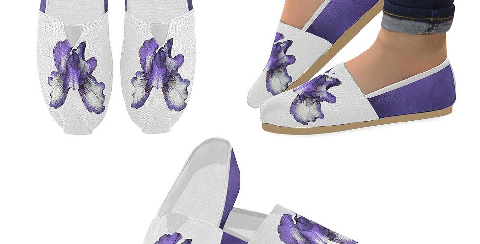 Bearded Iris Purple - Slip On Canvas Shoes