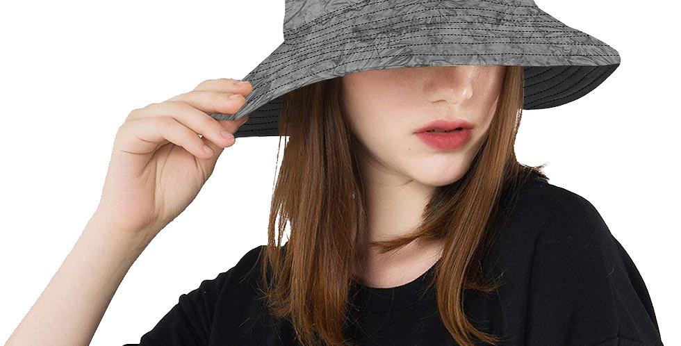 Embossed Floral Grey - Bucket Hat