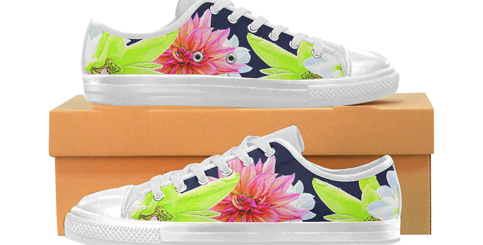 Magnolia Butterflies - Women's Canvas Sneakers