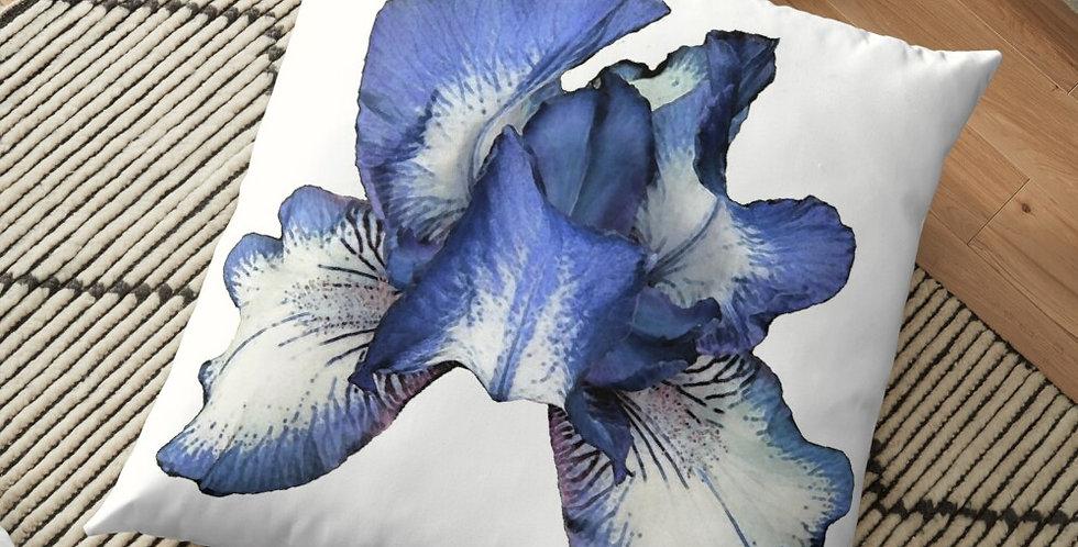 Rainbow Iris - Blue - Cushion Cover
