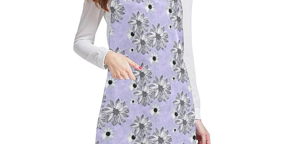 Floral Mauve Apron - Adjustable