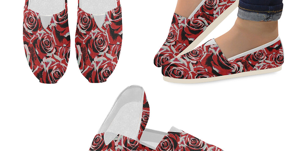 Gypsy Rose Passion - Slip On Canvas Shoes