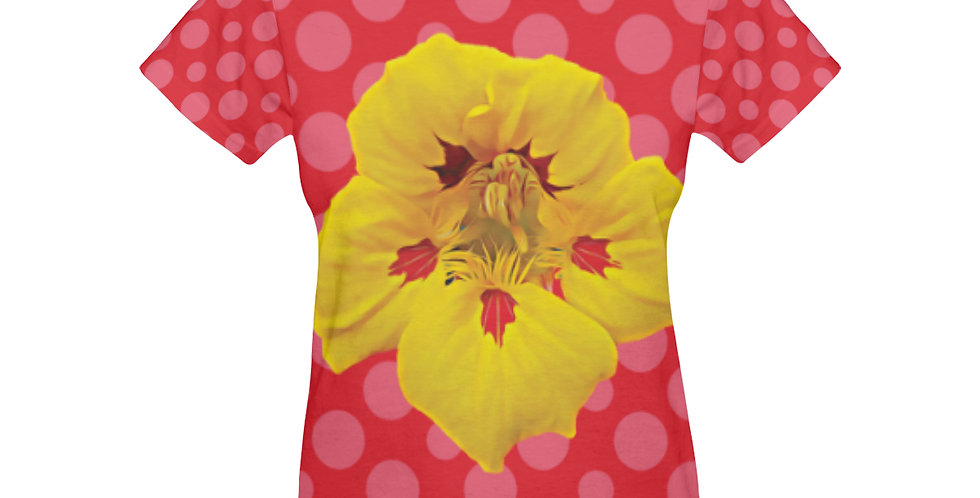 Ladybug Nasturtium (Boarder) - T-shirt