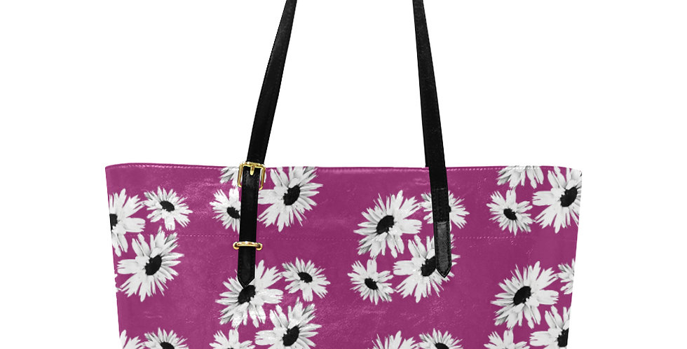 Bunch of Daisies Hot Pink - Large Tote Bag