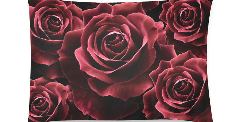 Red Red Roses Bunch - Cushion Cover