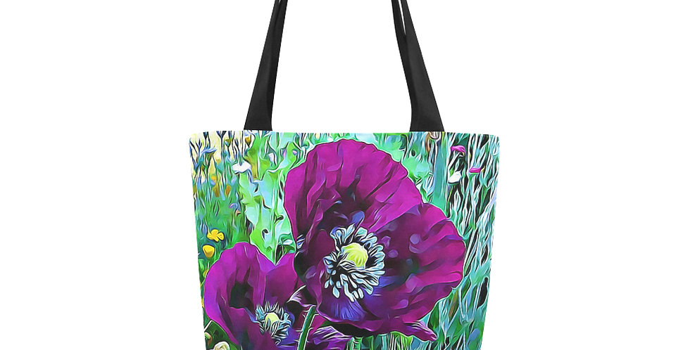 Meadow Poppies Spring - Tote Bag