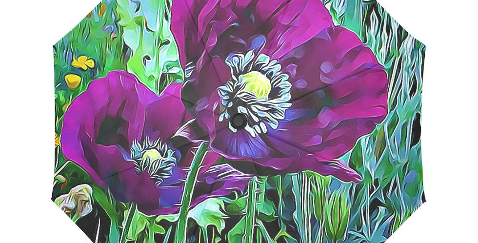 Meadow Poppies Spring - Botanical Umbrella