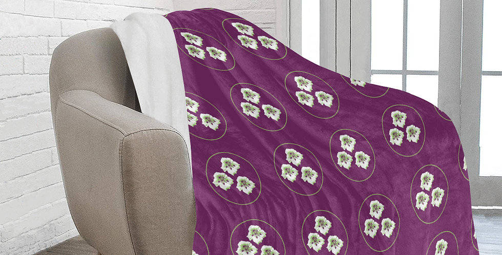 Purple Nasturtium (small print) - Blanket