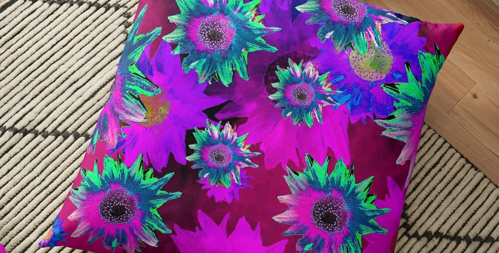 Strawflower Sizzle - Purple/Pink - Cushion Cover