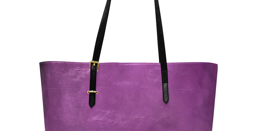 Rainbow Iris Washed Pink - Large Tote Bag