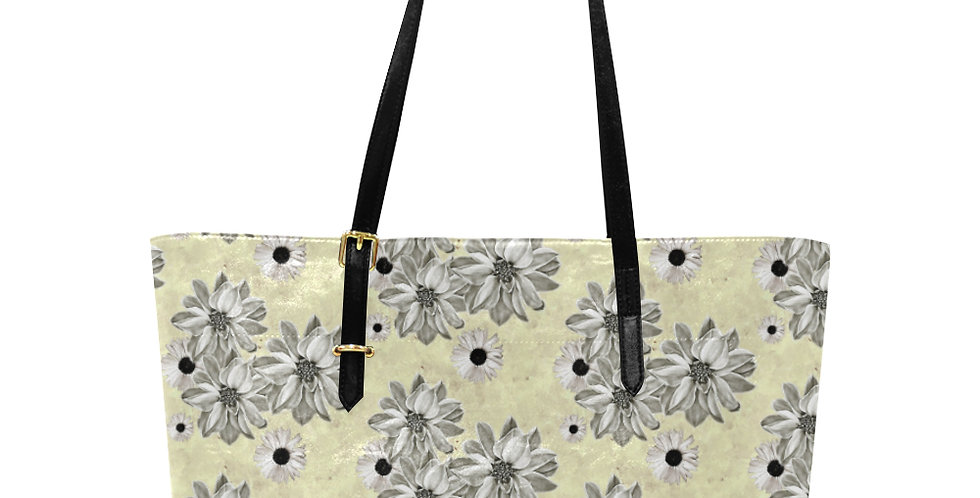 Floral Lemon - Large Tote Bag