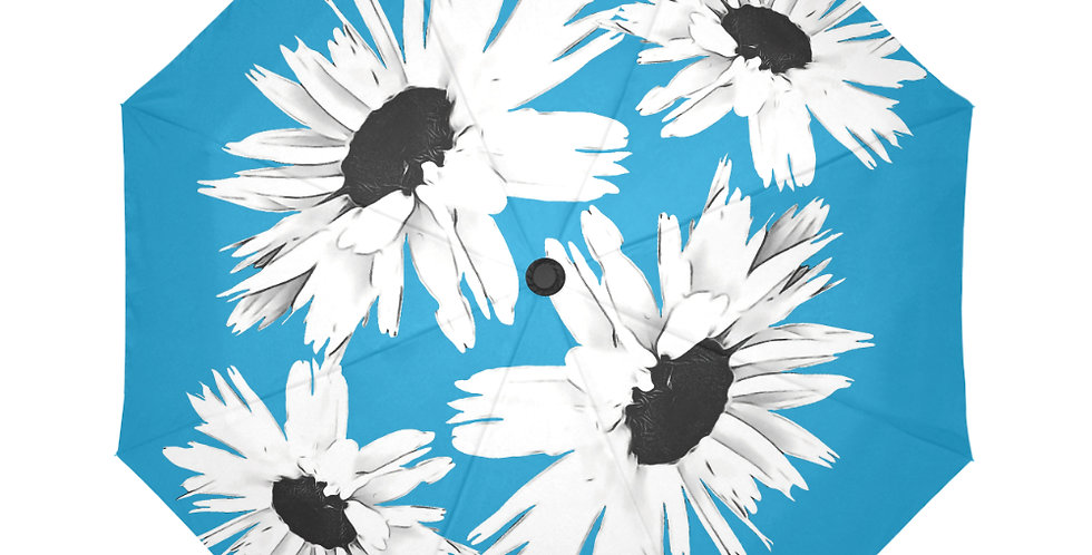 Bunch of Daisies Blue - Botanical Umbrella