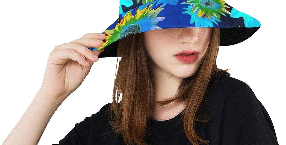 Strawflower Sizzle Blue - Bucket Hat