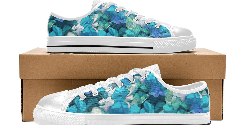 Snappy Blue - Women's Canvas Sneakers