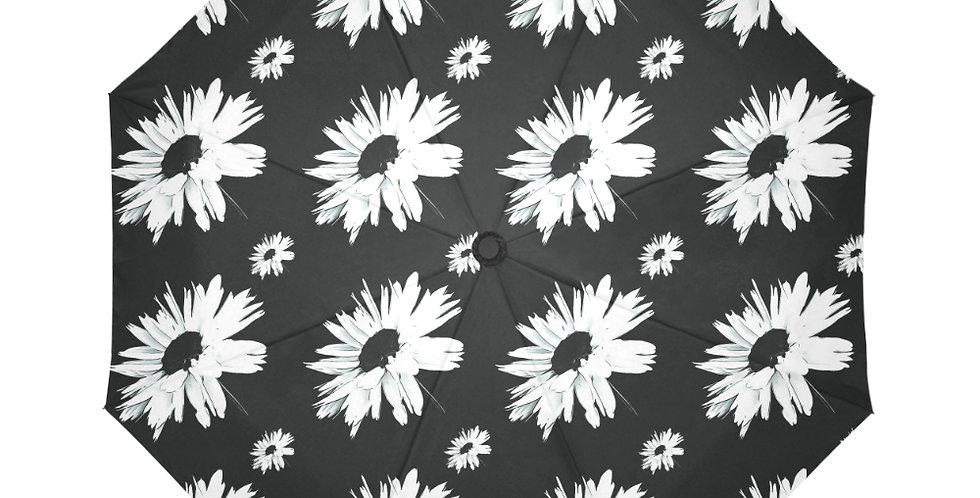 Bunch of Daisies Black (small print) - Botanical Umbrella