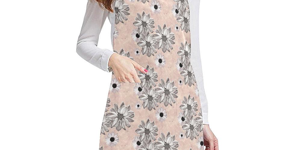 Floral Blush Apron - Adjustable