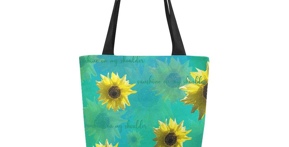 Sunflower - Sunshine On My Shoulder - Tote Bag
