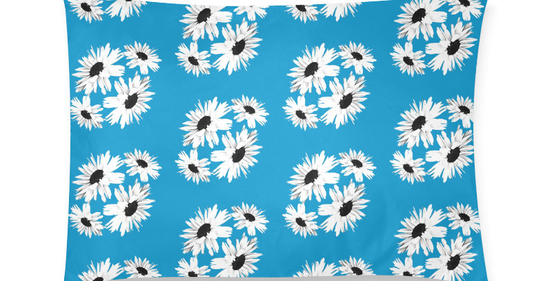 Bunch of Daisies Blue - Cushion Cover