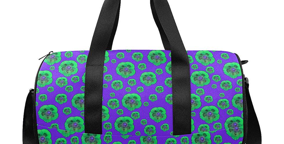 Flower Power Purple/Green - Gym / Workout / Camping / Travel Duffel Bag