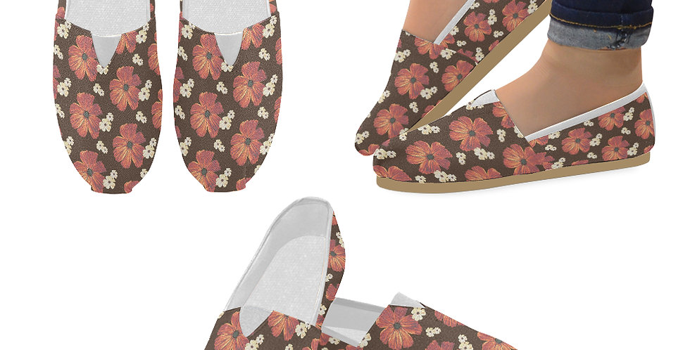 Chocolate Cosmos - Slip On Canvas Shoes