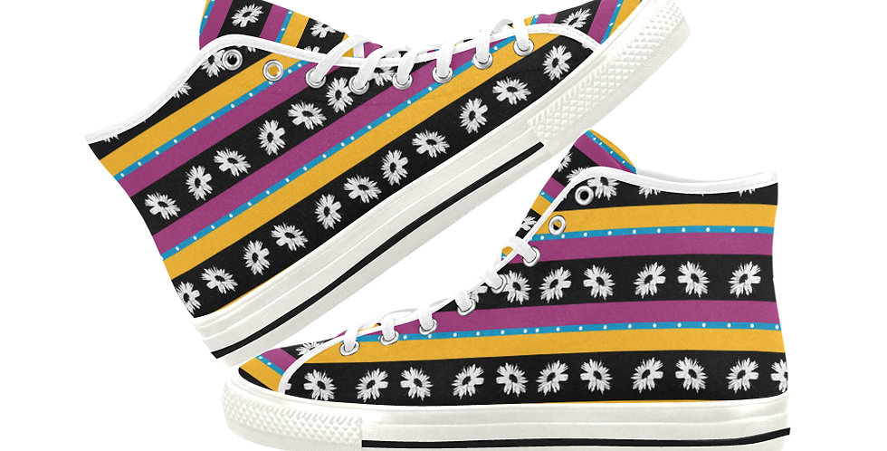 Bunch of Daisies Allsorts - Women's High Top Canvas Sneakers